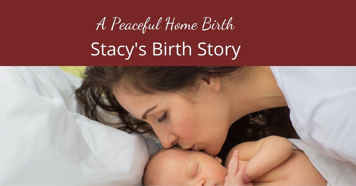 Stacy's beautiful waterbirth homebirth