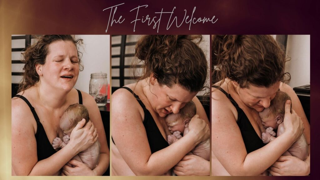 The first welcome in a family homebirth